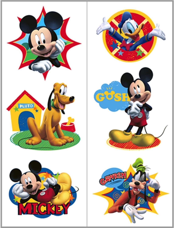 Hallmark 221698 Disney Mickey Fun and Friends Hojas de tatuajes ...