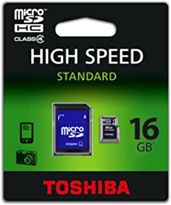 Toshiba SD-C16GJ(BL5A 16GB Class 4 HS Standard MicroSD with Adapter