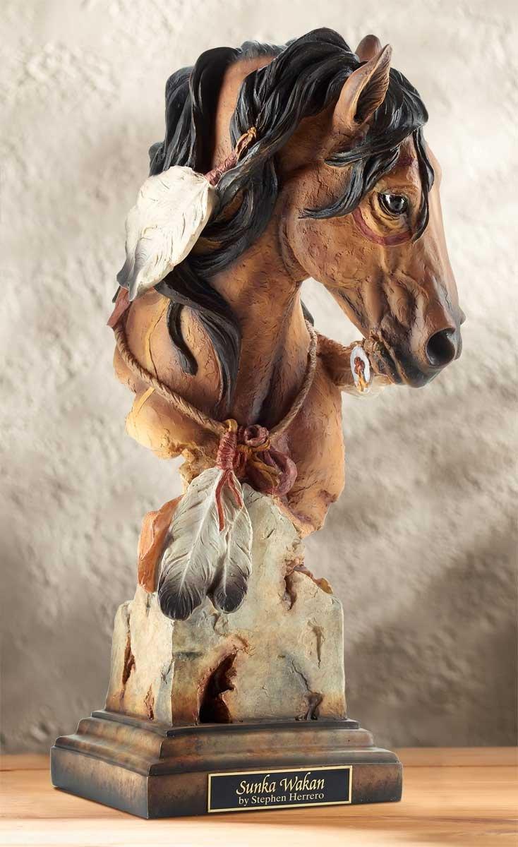 Wild Wings Sunka Wakan – Horse Sculpture by Arich Harrison