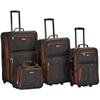 4-Piece Rockland Luggage Set (Charcoal)