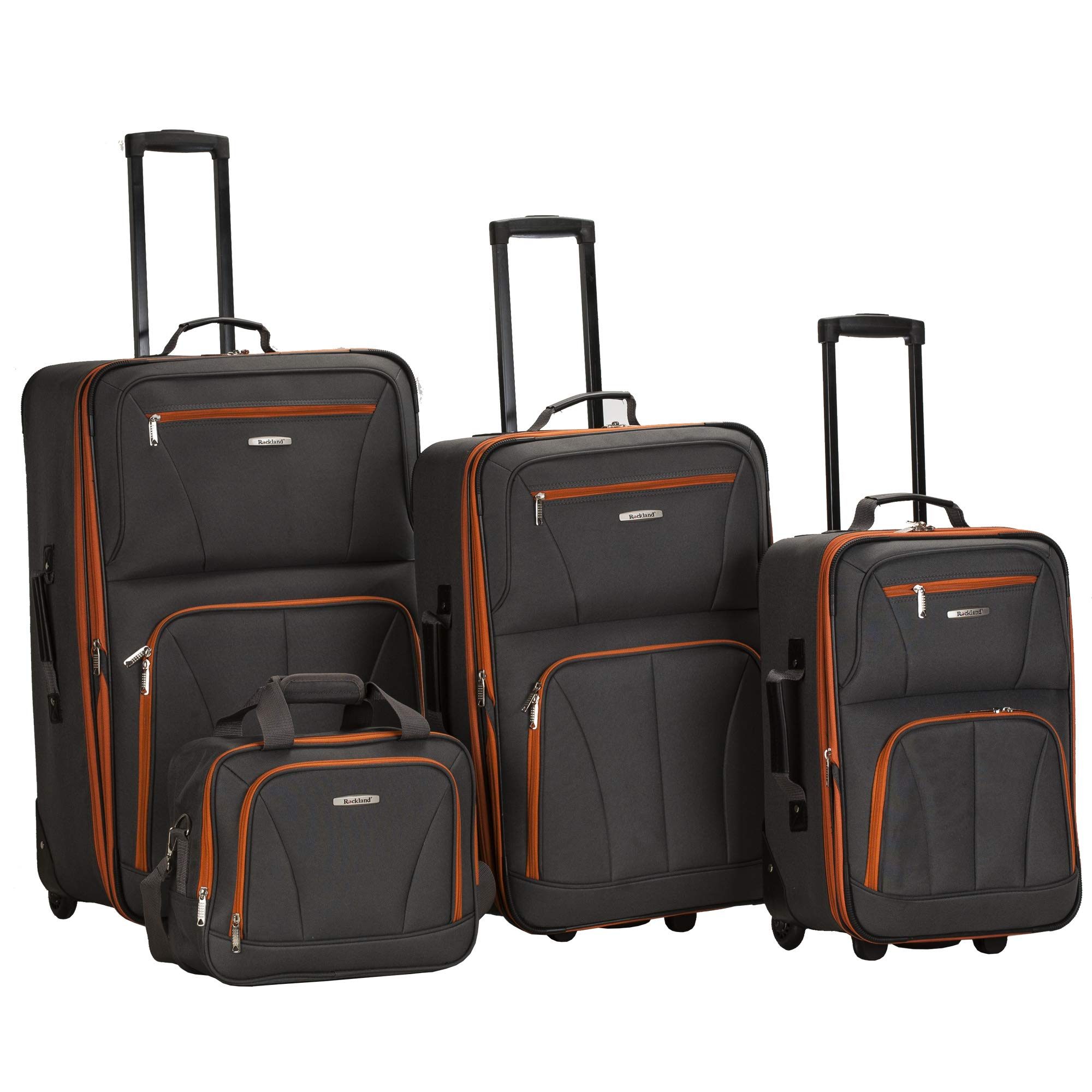 Rockland Luggage 4 Piece Set, Charcoal, One Size by Rockland