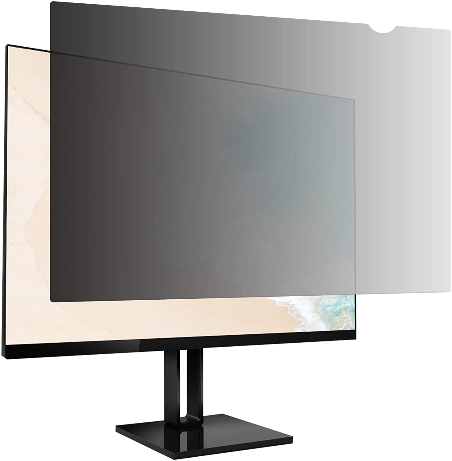 AmazonBasics Privacy Screen Filter - 19.5-Inch 16:9 Widescreen Monitor