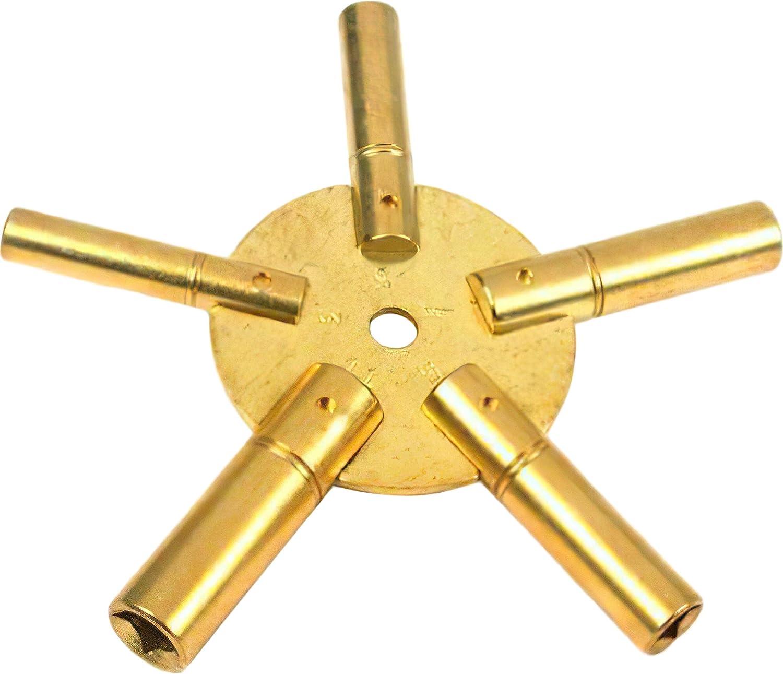 Clock Key Brass Winding Mainspring Winder Size 9-4.50mm