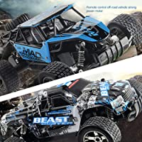 DishyKooker High Spped RC Cars 2.4GHz 1:18 RC Car RTR Shock Absorber PVC Shell Off-Road Race Vehicle Buggy Electronic Remote Control Car Toy