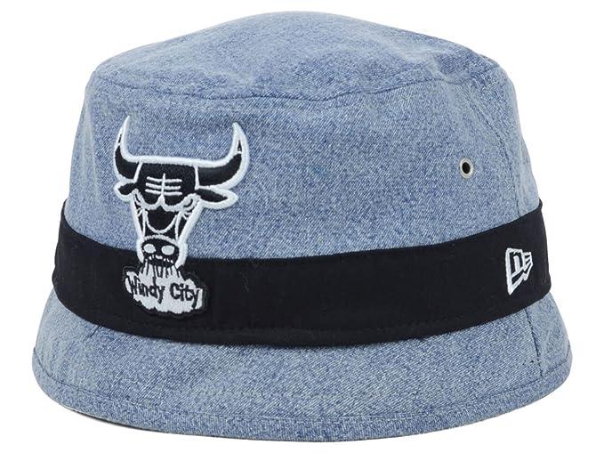 3bdbc649d8599 Chicago Bulls New Era 90's Nod Denim Bucket Hat Large at Amazon ...