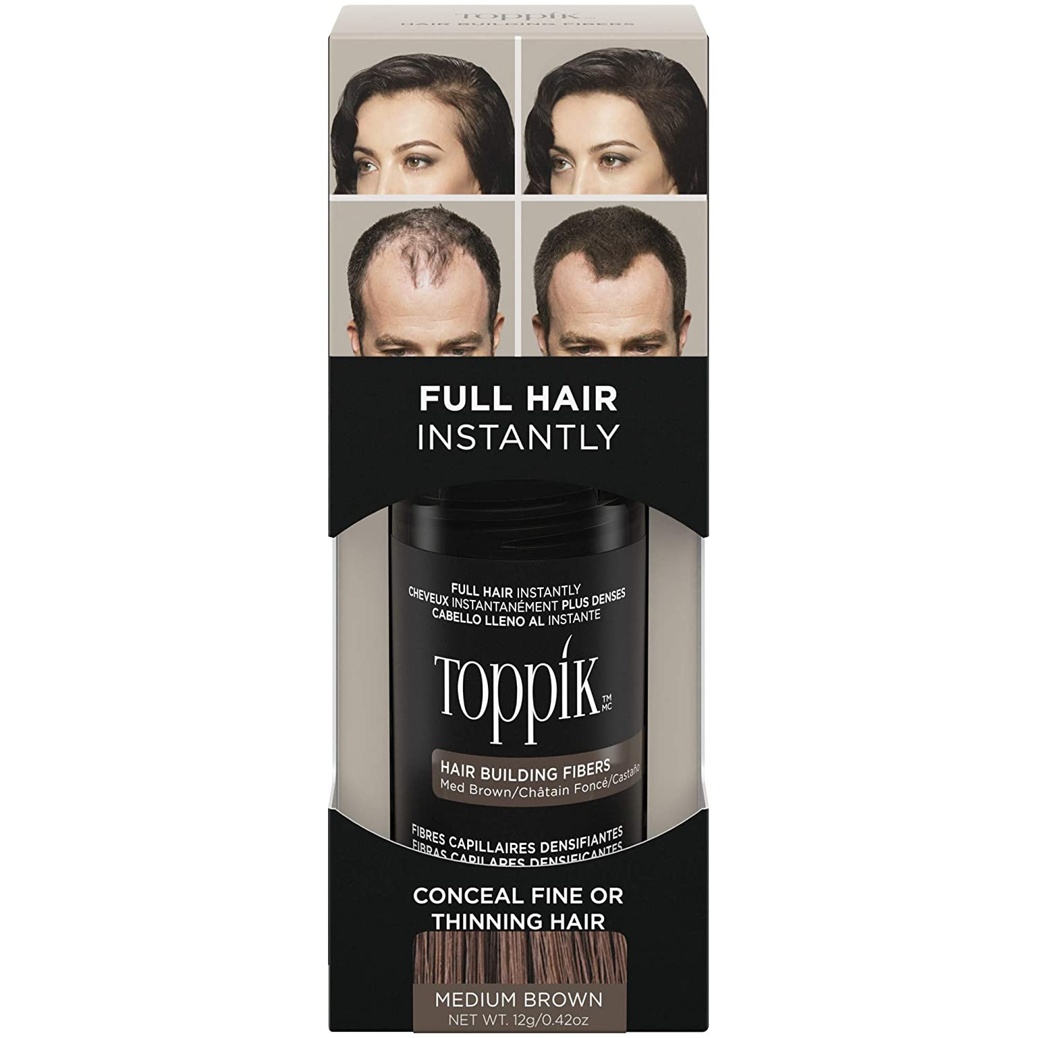 Toppik Hair Building Natural Keratin Fibers for Men & Women