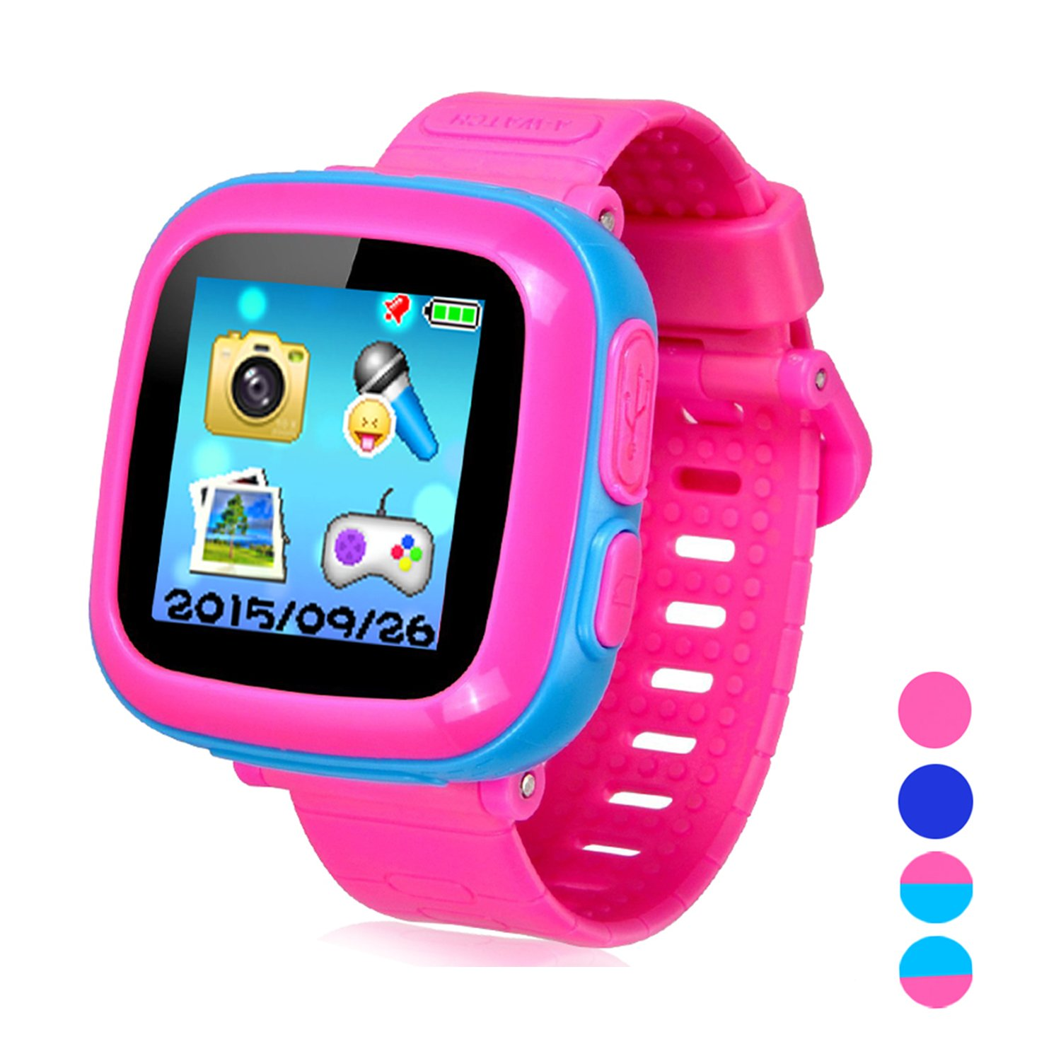 Smart Watch for Kids Girls Boys,Smart Game Watch with Camera Touch Screen Pedometer,Kids Smart Watch Perfect Holiday Birthday Toys Gifts (Joint Blue)