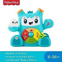 Fisher-Price Smart Moves Rockit Baby Ritmo, Giocattolo Elettronico Educativo per Bambini dai 6 Mesi, con Musica e Suoni,, FXD04