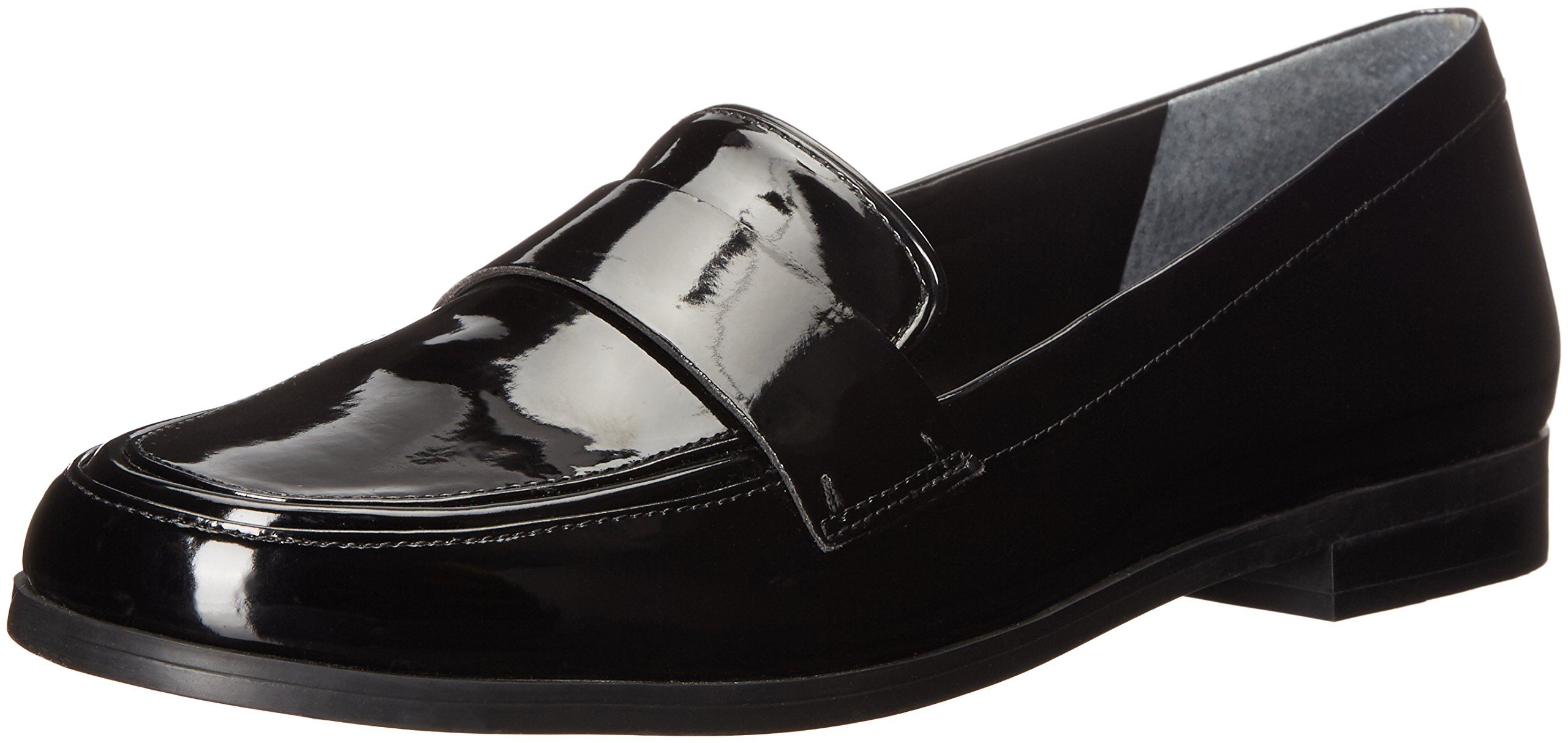 Franco Sarto Women's Valera Slip-on Loafer, Black/Black, 4.5 M US