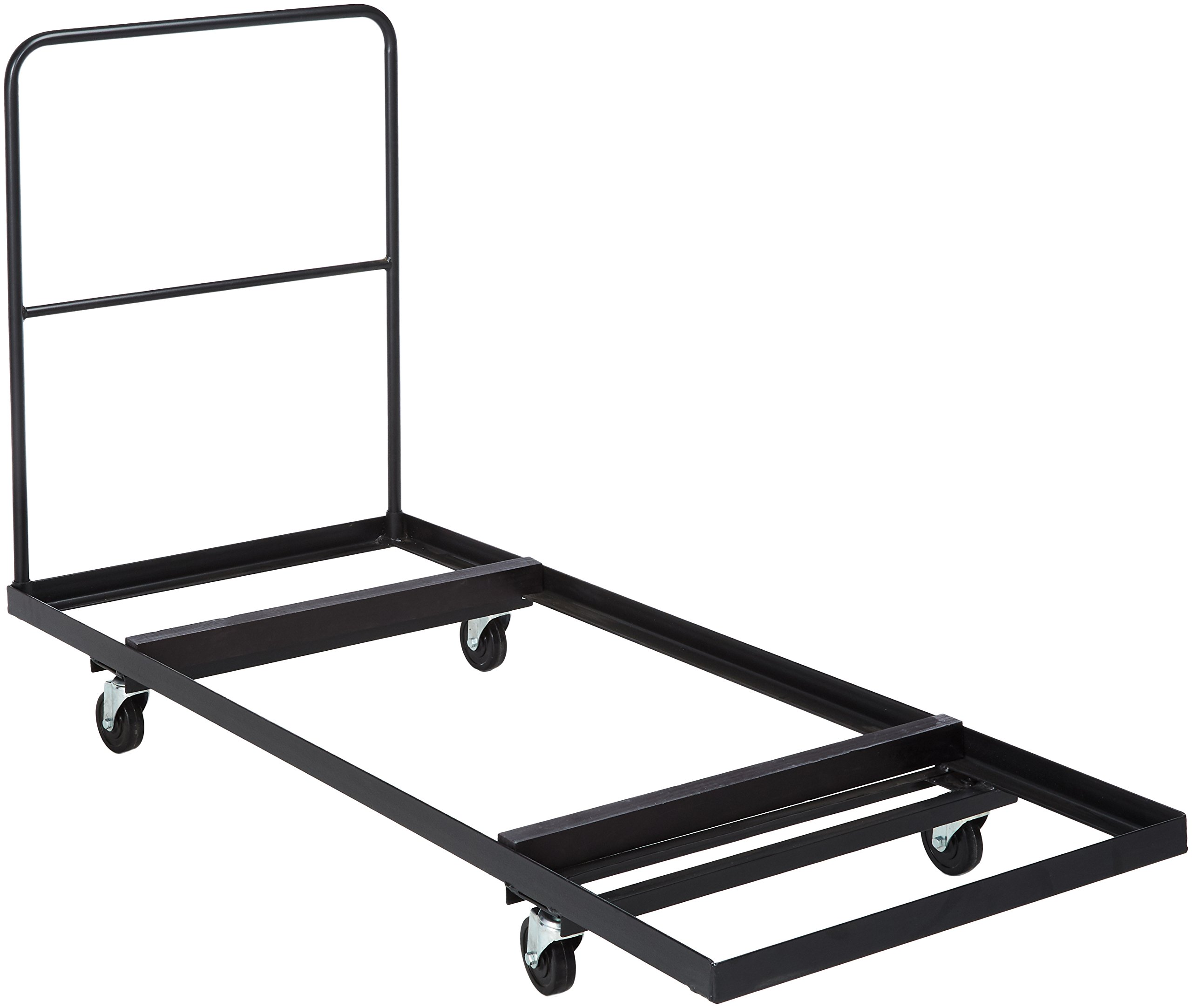 Flash Furniture Black Folding Table Dolly for 30''W x 72''D Rectangular Folding Tables