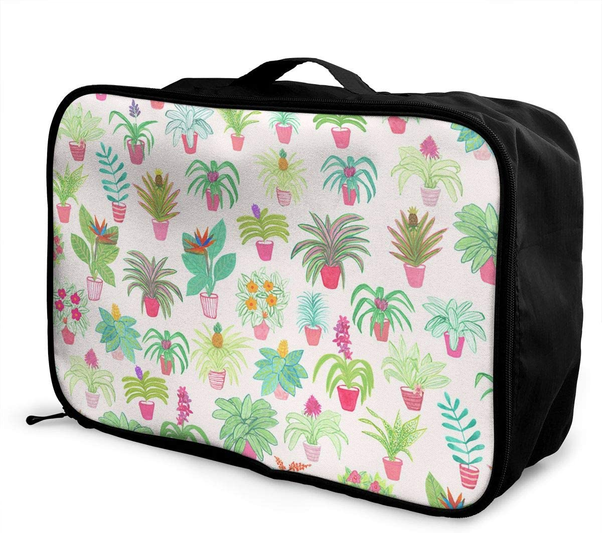 Pot Travel Carry-on Luggage Weekender Bag Overnight Tote Flight Duffel In Trolley Handle
