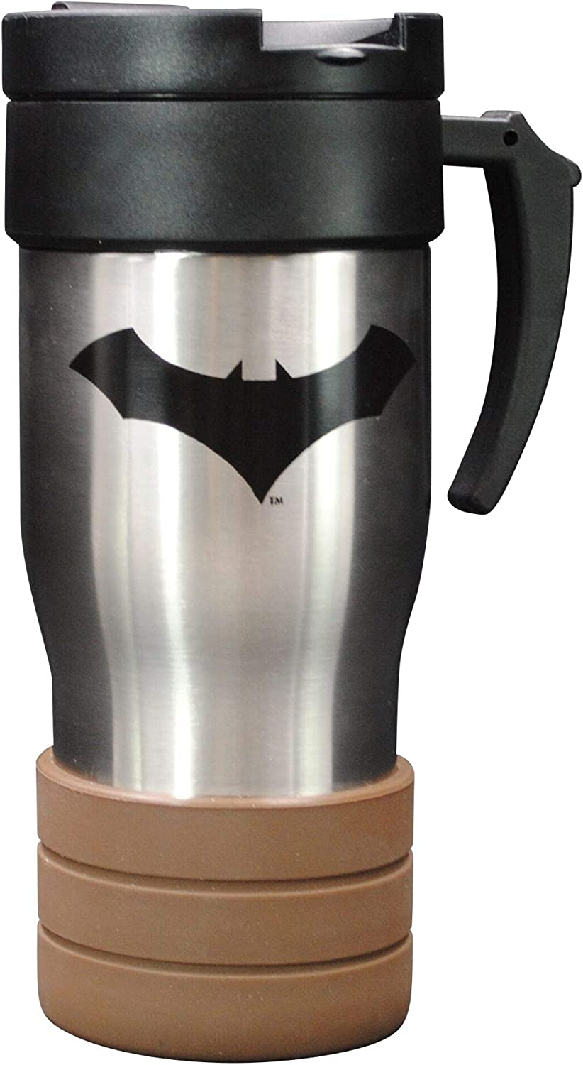 Batman Stainless Steel Travel Mug Insulated Hot Beverage Cup with Handle
