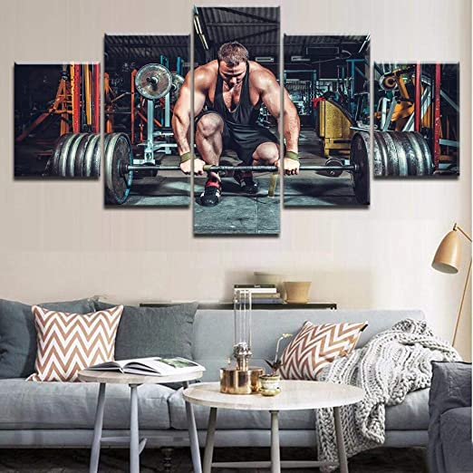 5 Piezas HD Print The Llift Barbell Poster Sports Poster para la ...