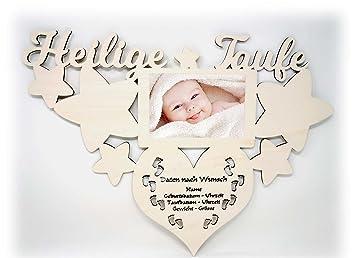 Geschenk Zur Taufe Bilderrahmen Mit Namen Und Geburtsdaten Heilige Baby Geschenke Taufgeschenke Junge Mädchen