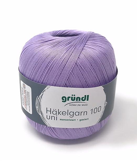 Häkelgarn 100 Gramm Baumwolle Filet Garn Häkeln Farbe Flieder126