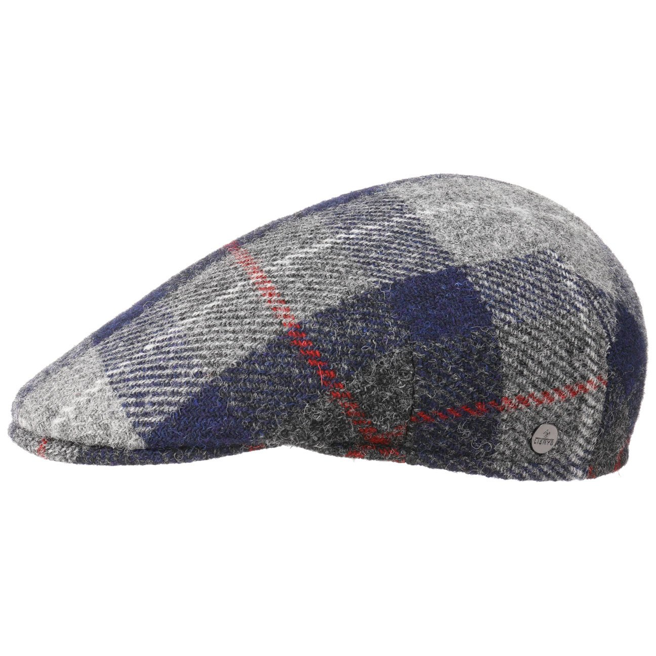 Lierys Coppola Tirreno Harris Tweed Berretto Piatto Cappello Invernale Cappellino in Lana