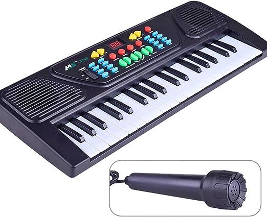 TOYMYTOY Teclado electrónico con Micrófono 37 teclas Mini