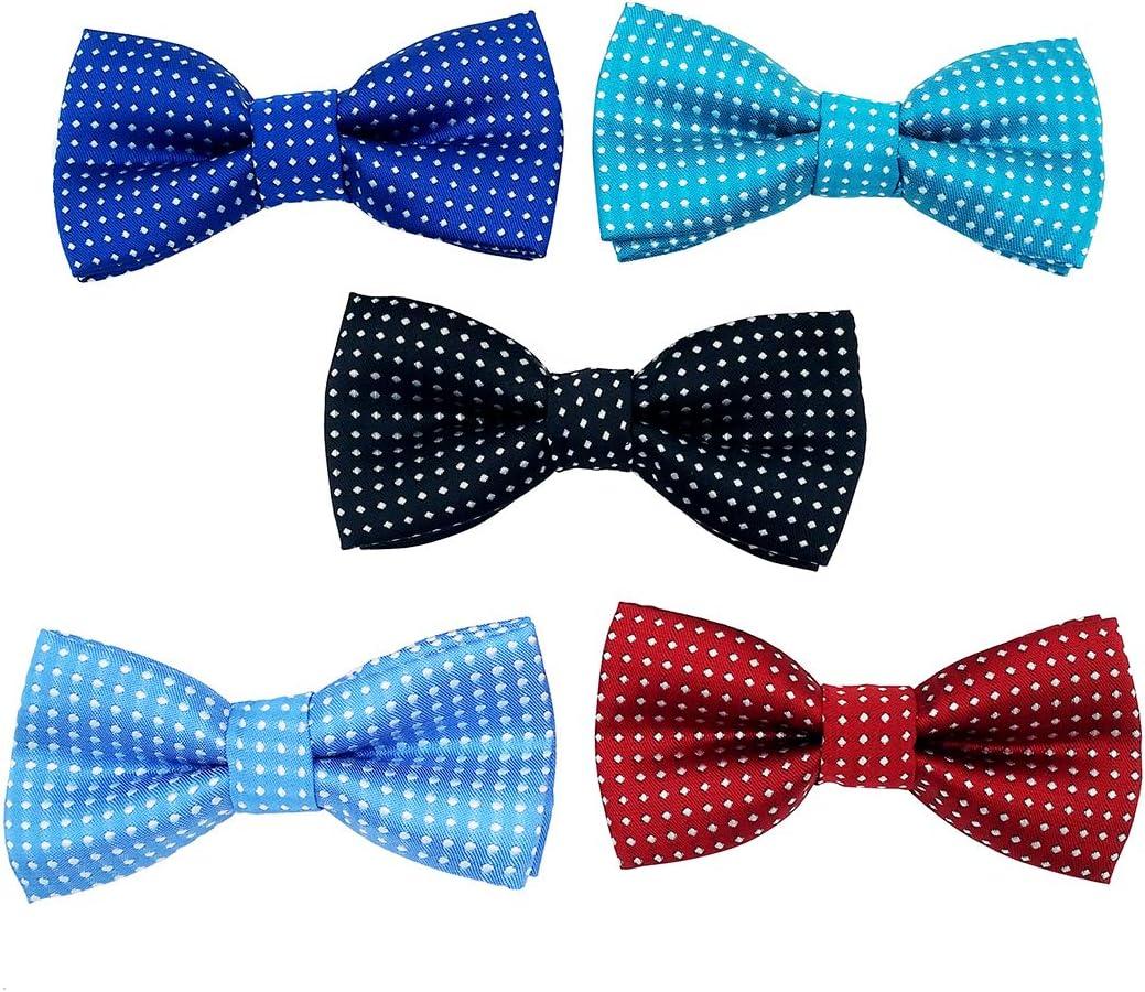 BIPY 5 Piezas de Collar de Color Puro para Mascotas, Accesorios, Lazos, Diapositivas, Lazos Decorativos para Gato, Cachorro, pequeño y Mediano, Disfraces de Aseo para Mascotas