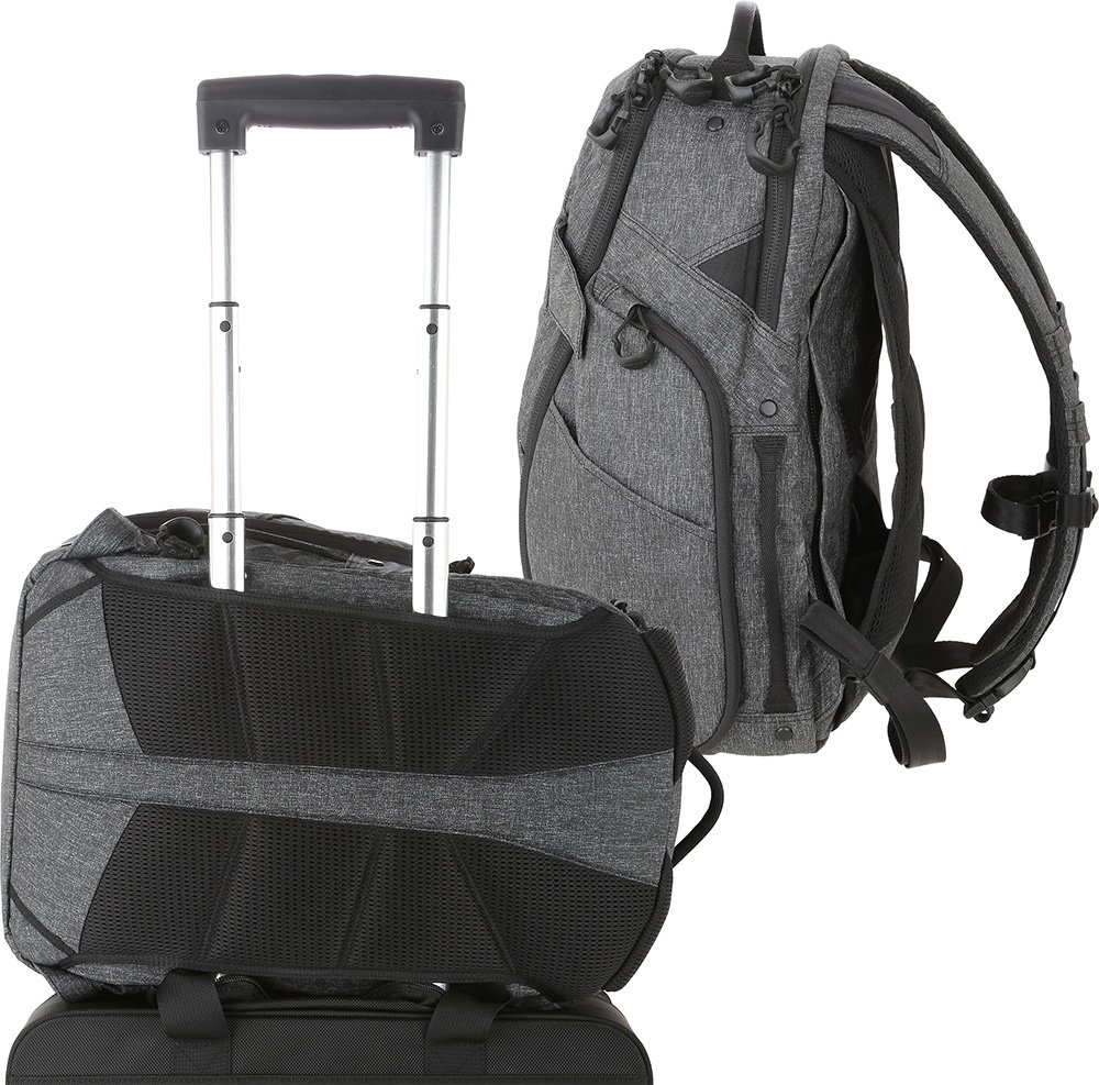 Maxpedition Gear Entity 23 CCW-Enabled Laptop Backpack 23L for Covert Concealed Carry, Charcoal by Maxpedition (Image #7)