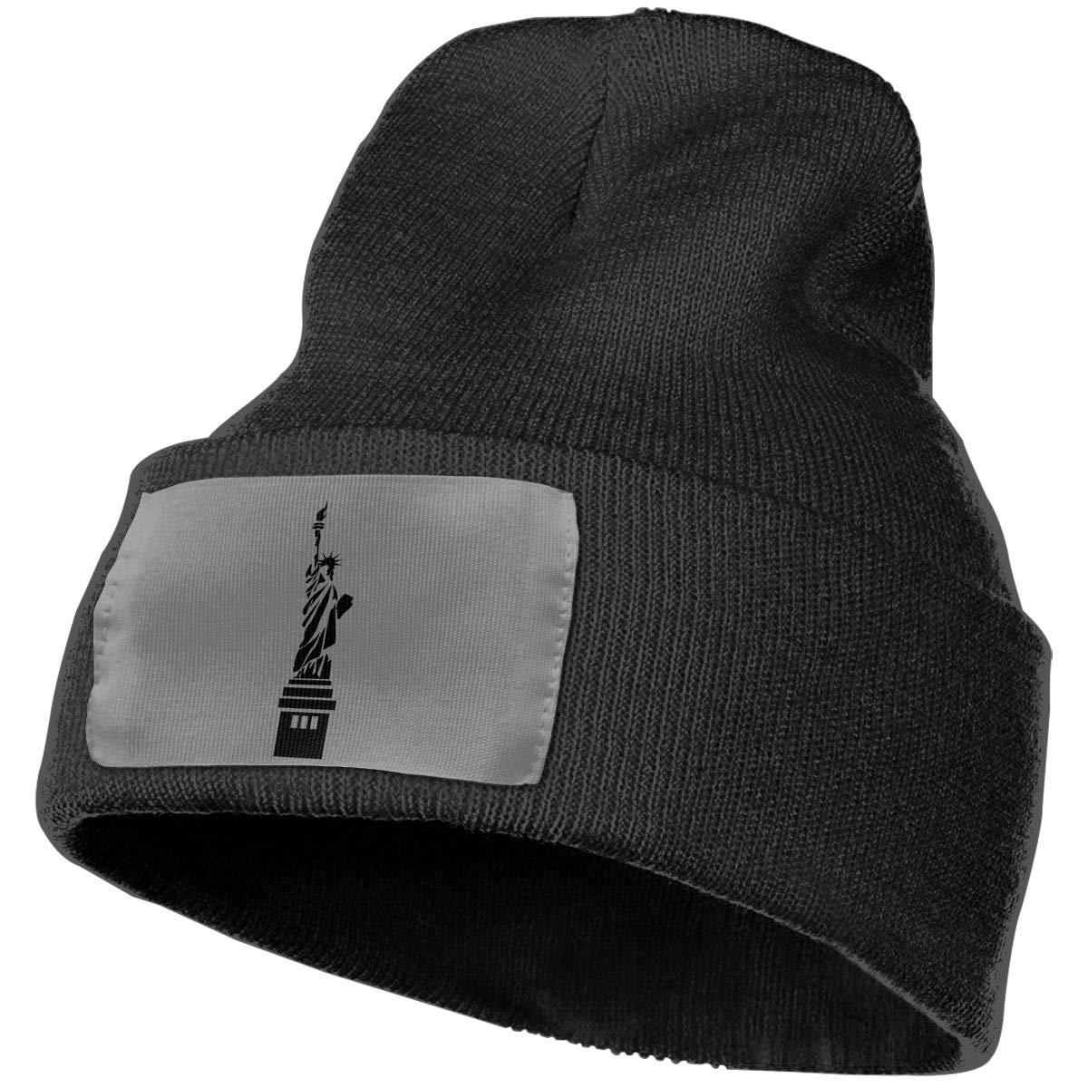 SLADDD1 USA Statue Warm Winter Hat Knit Beanie Skull Cap Cuff Beanie Hat Winter Hats for Men /& Women