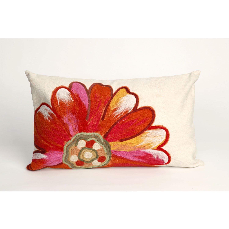Liora Manne 7S01SA36817 Mystic III Flower Power Orange Indoor/Outdoor Pillow