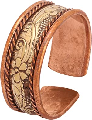 iCraftJewel 100/% Pure Copper Thumb Ring for Bio Healing Pain Reliever Fashion Ring Gift Item