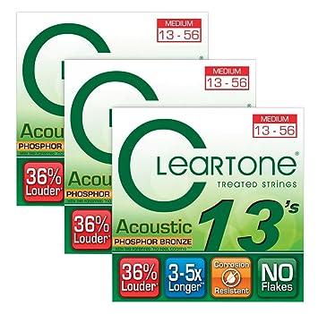 Cleartone Cleartone Coated Medium - Cuerdas para guitarra acústica ...