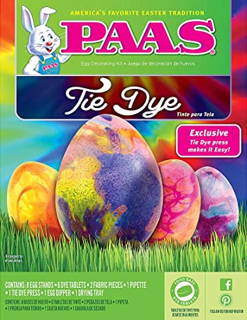 Amazon.com: PAAS 39418 Tie Dye Egg Decorating Kit: Kitchen & Dining
