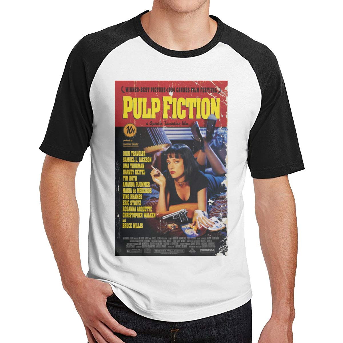 Bloonmer Mens Comfortable Pulp Fiction Short Sleeve T Shirts