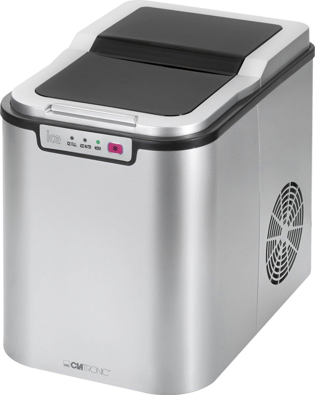 Clatronic EWB 3526 Eiswürfelbereiter für ca. 10–15 kg Eiswürfel in 24 Std, LED-Anzeige, 3 Kontrollleuchten EWB3526