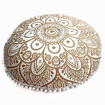 TAOtTAO - Funda de cojín Redondo con diseño de Mandala India ...