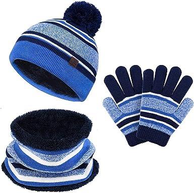 Baby Hats Toddler Hat and Mitten Set Kids Beanie Girl Warm Caps Winter Gloves