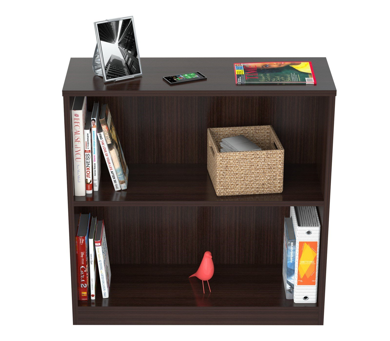 Inval America BE-3104 2 Shelf Bookcase/Hutch