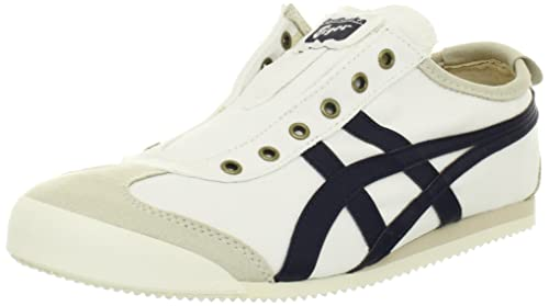 check out fed44 ccd51 ASICS Onitsuka Tiger Mexico 66 Slip-On Shoe,Birch/Navy,11 M ...