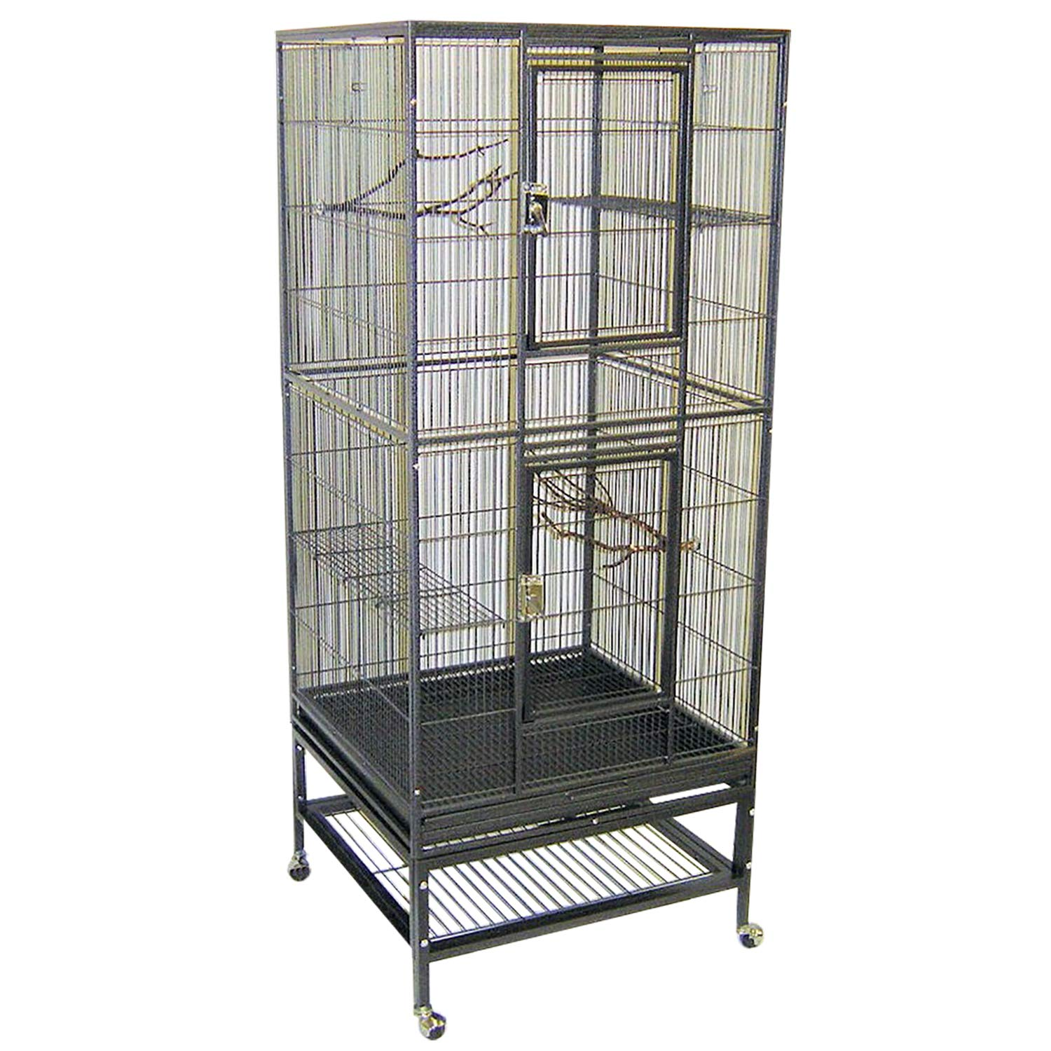 Exotic Nutrition Madagascar Cage - 60'' Tall Durable Spacious Metal Cage - for Sugar Gliders, Squirrels, Marmosets & Other Small Pets by Exotic Nutrition