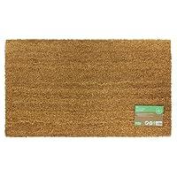 JVL Manor Plain Natural Coir Latex Backed Door Mat, Plastic/Vinyl, Brown, 40 x 70 cm