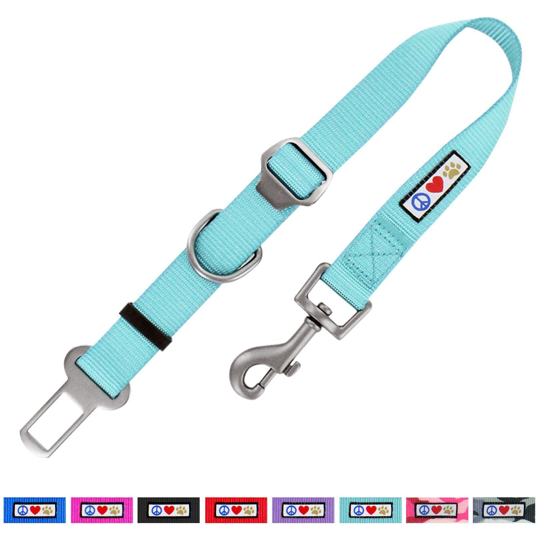 Pawtitas Cintur/ón de seguridad de coche para perros con correa de sujeci/ón para mascotas color rosa