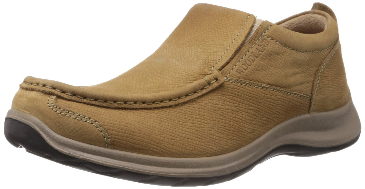 Woodland Men's Camel Leather Boat Shoes - 8 UK/India (42 EU): Buy Online at  Low Prices in India - Amazon.in