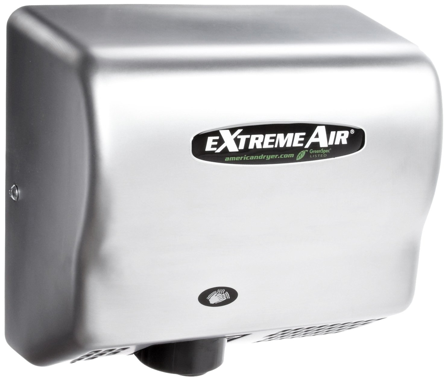 Image of Hand Dryers American Dryer ExtremeAir GXT9-SS Stainless Steel Cover High-Speed Automatic Hand Dryer, 10-12 Second Dries, 100-240V, 1,500W Maximum Power, 50/60Hz