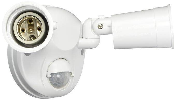 cooper-regent blanco Sensor de movimiento activado oculta doble halógena luces de seguridad