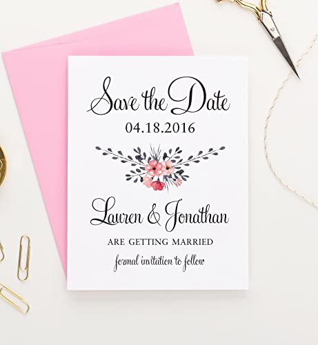 amazon com floral save the date save the date cards for weddings