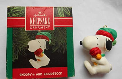 Snoopy And Woodstock Christmas Ornaments.Amazon Com Hallmark Keepsake Ornament Snoopy And Woodstock