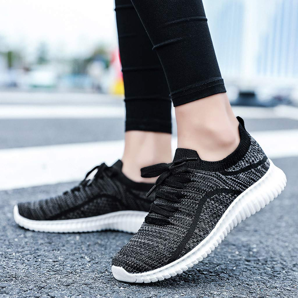 4Clovers Womens Mens Comfortable Walking Shoes Lightweight Mesh Slip On Athletic Sneakers