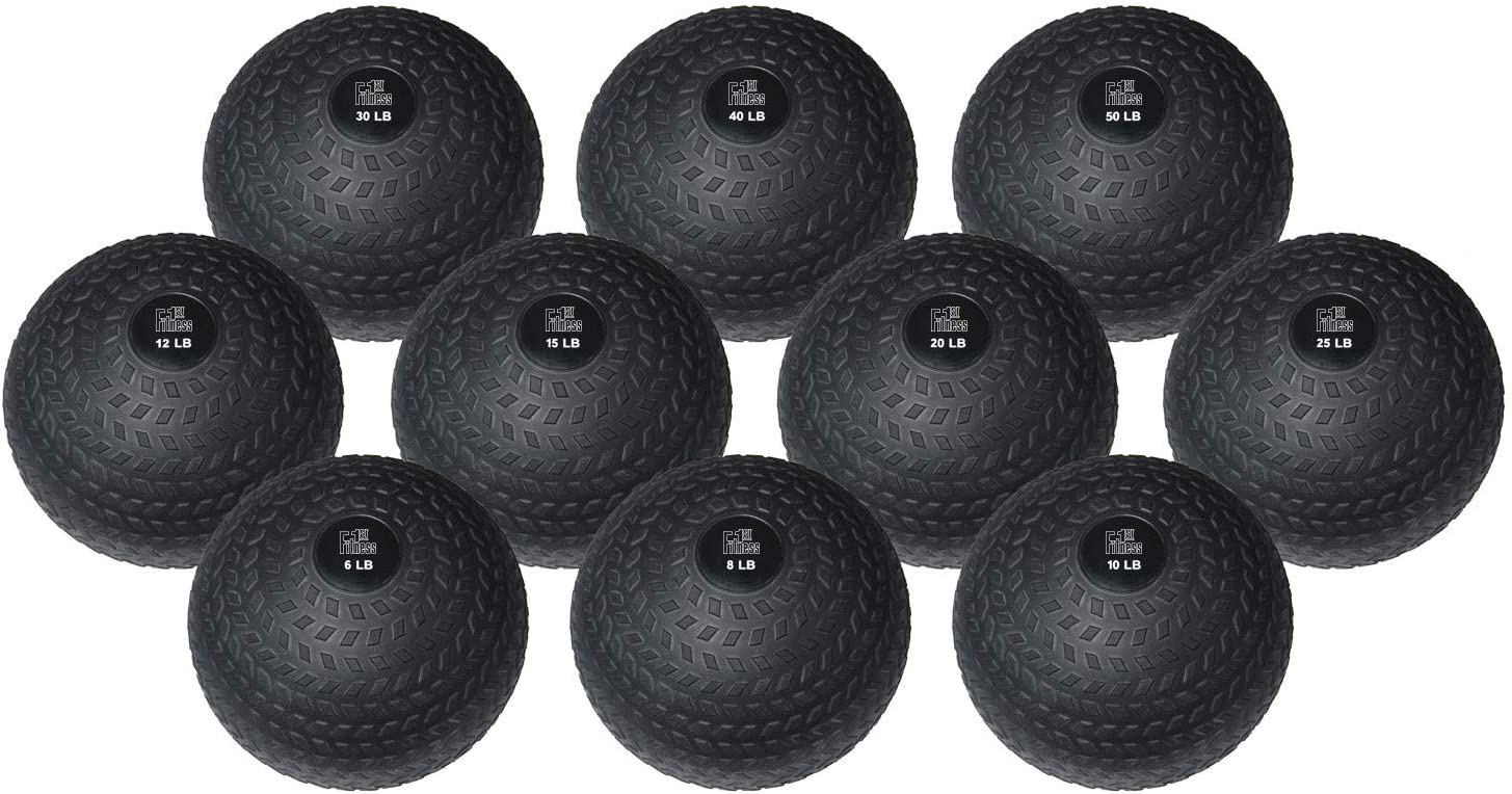 Easy-Grip FIT1ST Fitness First Slam Ball 10-50 LBS Weight Training Crossfit WOD