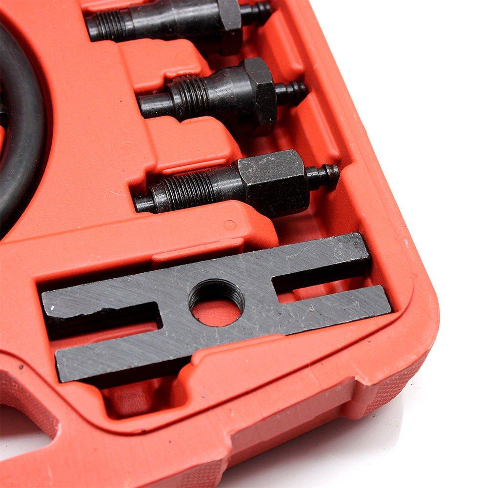 OUKANING Diesel Moteur /à Essence de Compression testeur de d/étecteur de Fuite de Cylindre avec 9/Diff/érentes Glow Prises et 4/adaptateurs de Injecteur