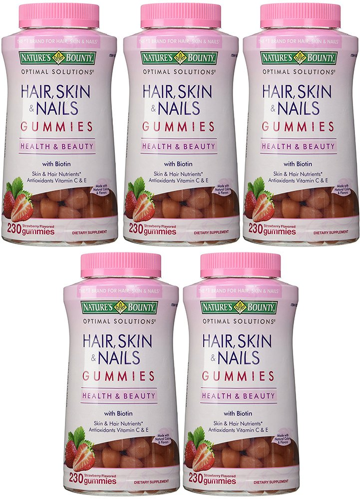 Hair, Skin and Nails, 5 Bottles (230 Count)