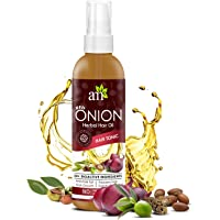 AromaMusk Red Onion Hair Oil For Hair Growth, 100ml - With 30+ Bioactive Oils & Extracts Including Argan Oil, Castor, Almond, Jojoba And Vitamin E Oil For Complete Hair Care