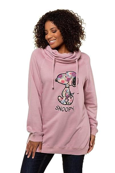 UK-Shop starke verpackung ziemlich cool Ulla Popken Damen große Größen bis 64, Oberteil, Sweatshirt, Pullover,  Stehkragen, Langarm, Rundhals 717419
