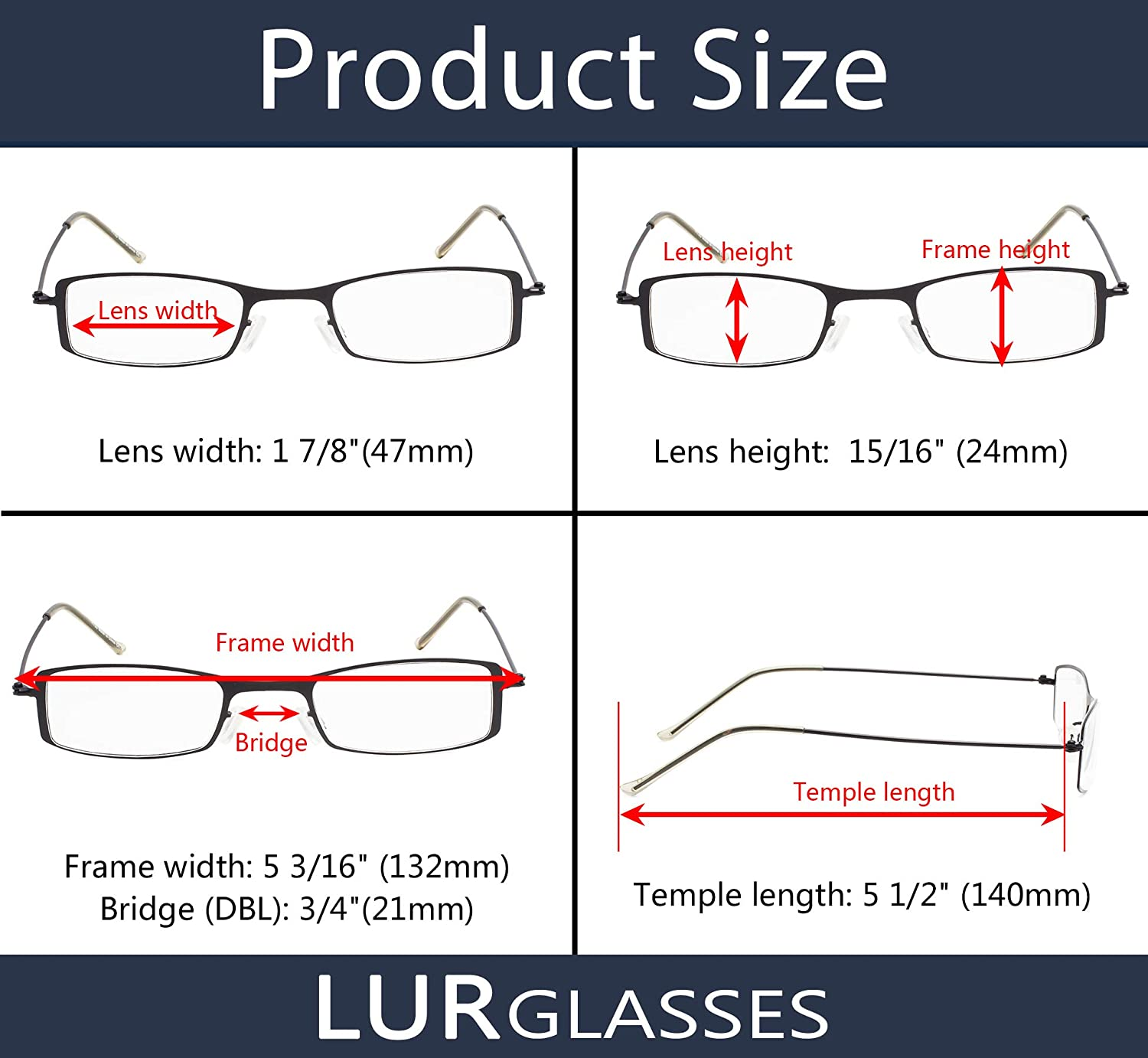 READING GLASSES 3 pack Small Readers