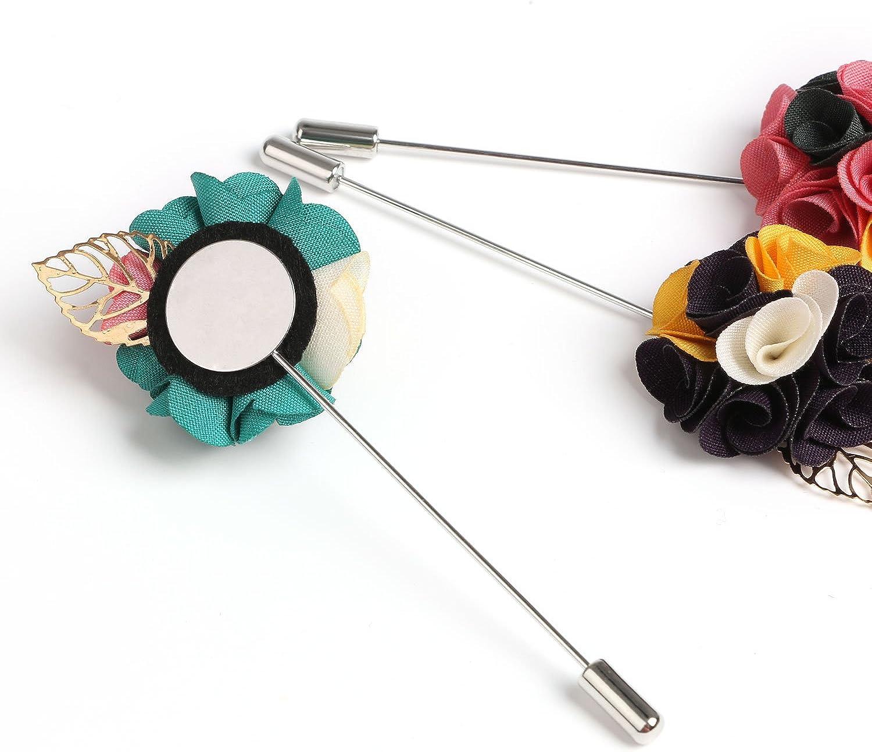 Landisun Mens Lapel Pin Flower Boutonniere Set Handmade For Suits